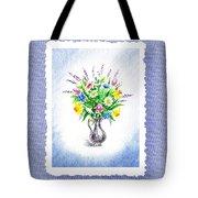 Botanical Impressionism Watercolor Bouquet Tote Bag
