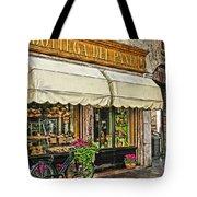 Bottega Del Pane Italian Bakery And Bicycle Tote Bag