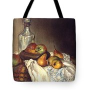 Bottle And Pears Tote Bag
