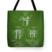 Bottle Cap Fastener Patent Drawing From 1907 - Green Tote Bag