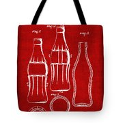 Bottle Support Patent Drawing From 1937 3 Tote Bag