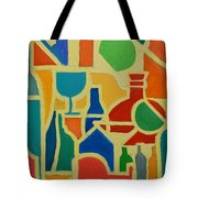 Bottles And Glasses 2 Tote Bag