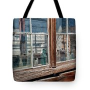Bottles In The Window Tote Bag by Cat Connor