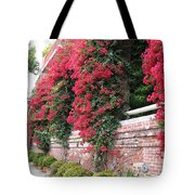 Bougainvillea Wall In San Francisco Tote Bag