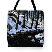 Boulder Brook In Winter Tote Bag