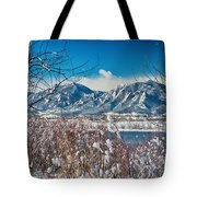 Boulder Colorado Winter Season Scenic View Tote Bag