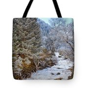 Boulder Creek Winter Wonderland Tote Bag