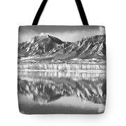 Boulder Reservoir Flatirons Reflections Boulder Co Bw Tote Bag