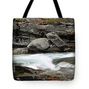 Boulders In Mcdonald Creek Tote Bag