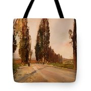 Boulevard Of Poplars Near Plankenberg Tote Bag