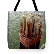 Bound And Bolted Tote Bag