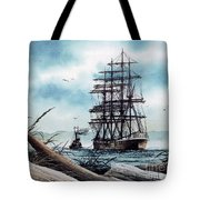 Bound For Blue Water Tote Bag