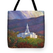 Bountiful Temple In The Mountains Tote Bag