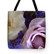 Roses And Violets  Tote Bag