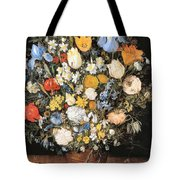 Bouquet In A Clay Vase Tote Bag