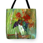 Bouquet In A White Vase Tote Bag