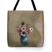 Bouquet Of Anemones Tote Bag by Odilon Redon