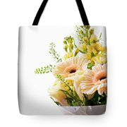 Bouquet Of Flowers On White Background Tote Bag