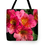 Bouquet Of Pink Lily Flowers Tote Bag