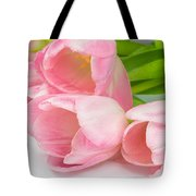 Bouquet Of Pink Tulips. Tote Bag