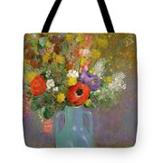 Bouquet Of Wild Flowers  Tote Bag by Odilon Redon