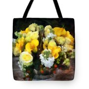 Bouquet With Roses And Calla Lilies Tote Bag