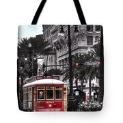 Bourbon And Canal Trolley Cropped Tote Bag