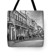Bourbon Street Afternoon - Paint Bw Tote Bag
