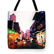 Bourbon Street Early Evening Tote Bag