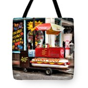 Bourbon Street Lucky Dog Tote Bag by Bill Cannon