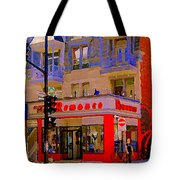 Boutique Erotique Romance Mont Royal The Love You Make Is Equal To The Love You Take City Scene Art Tote Bag