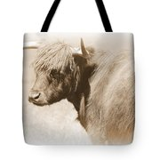 Bovine With Bangs Tote Bag