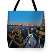 Bow And The Needle Tote Bag
