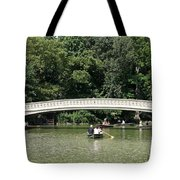 Bow Bridge And Row Boats Tote Bag