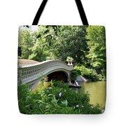 Bow Bridge And Rowboat Nyc Tote Bag