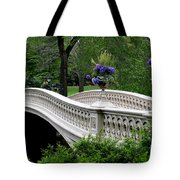 Bow Bridge Flower Pots - Central Park N Y C Tote Bag