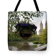 Bow Bridge Flowerpot And San Remo Nyc Tote Bag