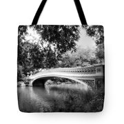Bow Bridge In Black And White Tote Bag
