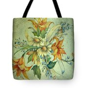 Bow Of Flowers Tote Bag