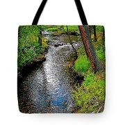 Bow River Near Lake Louise Campground In Banff National Park-ab Tote Bag