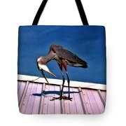 Bowing Blue Heron Tote Bag