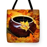 Bowl And Leaves Tote Bag