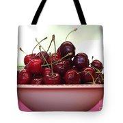 Bowl Of Cherries Closeup Tote Bag
