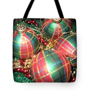 Bowl Of Christmas Colors Tote Bag