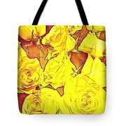Bowl Of Fireroses Tote Bag