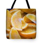 Bowl Of Sliced Oranges Tote Bag