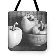 Bowl With Three Peppers Tote Bag