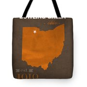Bowling Green State University Falcons Ohio College Town State Map Poster Series No 021 Tote Bag