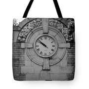 Bowling Green Time In Black And White Tote Bag