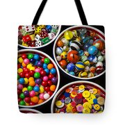 Bowls Of Buttons And Marbles Tote Bag